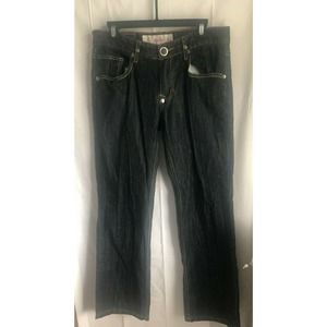 Nostic Dark Mens Washed Denim Relaxed Fit Straight